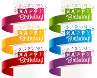 Happy Birthday Banners royalty free illustration