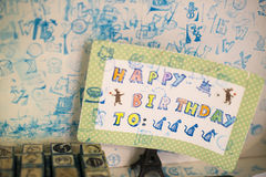Happy birthday. Beautiful postcard to Stock Images