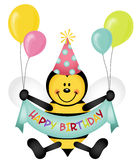 Happy Birthday Bee Stock Images