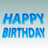 Happy Birthday bending 3d text style. Vector Illustration of Happy Birthday bending 3d text style Stock Images