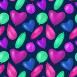 Happy birthday best seamless colorful balloon pattern royalty free illustration