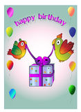 Happy birthday birds Royalty Free Stock Images
