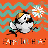 Happy Birthday birds Stock Photography