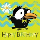 Happy Birthday birds smile card Stock Photos