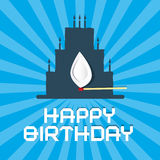 Happy Birthday Blue Background Royalty Free Stock Photo