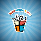 Happy Birthday Blue Background Stock Photography