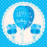 Happy Birthday Blue Balloons Royalty Free Stock Images