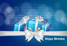 Happy Birthday blue card Royalty Free Stock Images