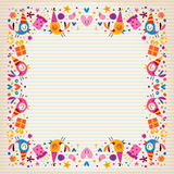 Happy Birthday border lined paper card with space for text Stock Photos