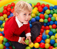 Happy birthday of  boy in color balls. Stock Images