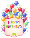 Happy birthday bright card Royalty Free Stock Photo