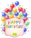 Happy birthday bright card. Beautiful celebration background Royalty Free Stock Photo