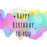 Happy birthday bright card. 3D Wavy Background. vector. Happy birthday bright card. 3D Wavy Background. vector Stock Photography