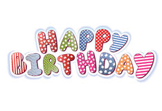 Happy Birthday. Bright Colorful Sign Stock Images