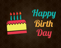 Happy birthday brown Royalty Free Stock Images