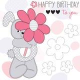 Happy birthday bunny vector illustration Stock Photo
