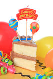 Happy birthday cake. With candles. Also available in horizontal royalty free stock image