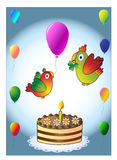 Happy birthday - cake Royalty Free Stock Images