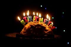 Happy birthday cake. Abstract homemade happy birthday cake stock image
