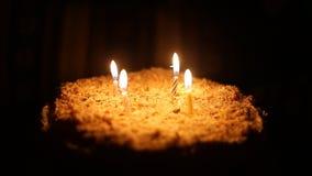 Happy Birthday Cake Stock Footage