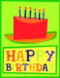 Happy birthday cake card royalty free stock images