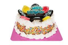 Happy Birthday Cake. Decorated cake isolated on white background stock photography