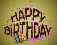 Happy birthday cake/Fun happy birthday cake Stock Images