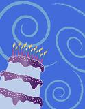Happy birthday cake greeting card Royalty Free Stock Images