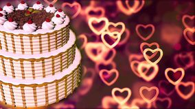Happy Birthday cake. Abstract Background stock image