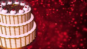 Happy Birthday cake. Abstract Background royalty free stock photo