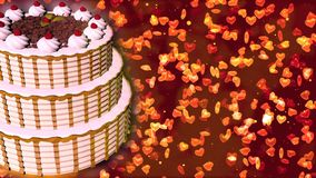Happy Birthday cake. Abstract Background royalty free stock photos