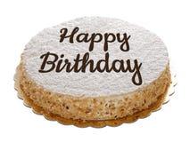 Happy birthday cake isolated. On white stock photos