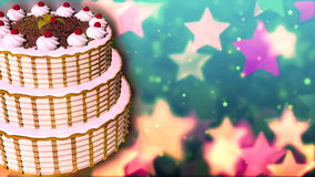 Happy Birthday Images Hd ~ Happy birthday cake. loopable abstract background. stock video