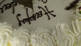 Birthday cake. Happy birthday cake with text stock video footage