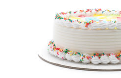 Happy birthday cake. On white background royalty free stock photos
