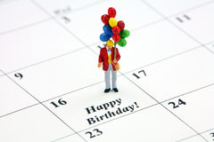 Happy Birthday calendar date stock images