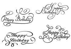 Happy birthday calligraphic Stock Photos