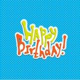 Happy Birthday calligraphy vector Royalty Free Stock Photo