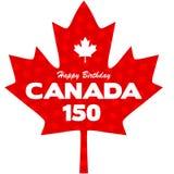 Happy 150 Birthday Canada graphic Royalty Free Stock Photo