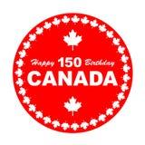 Happy Birthday Canada 150 Royalty Free Stock Photo