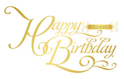 Happy birthday-cancer Royalty Free Stock Images