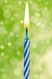Happy birthday candle Stock Photography