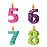 Happy birthday candle number character. Vector illustration design royalty free illustration
