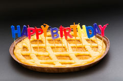 Happy birthday candles Stock Photography