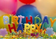 Happy Birthday candles Stock Photos