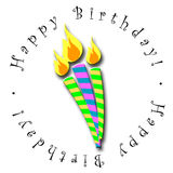 Happy Birthday Candles Royalty Free Stock Images