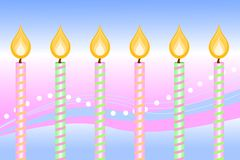 Happy Birthday Candles Stock Image