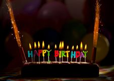 Happy birthday candles/cake Royalty Free Stock Images