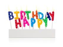 Happy birthday candles Stock Photo