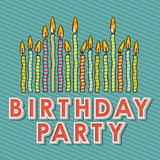 Happy birthday candles Stock Images